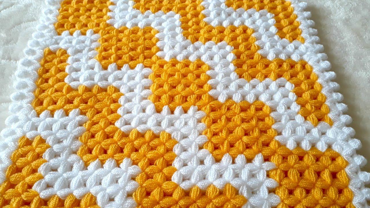 ZikZak Kare Lif Modeli Yapımı   ZigZag Square Washcloth ...