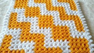 ⚡ ZikZak Kare Lif Modeli Yapımı | ZigZag Square Washcloth Knitting Pattern How To