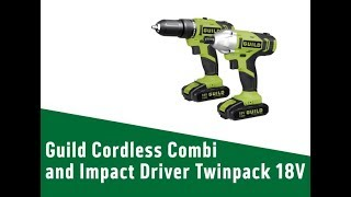 6224938 Guild Cordless Combi and Impact Driver Twinpack   18V