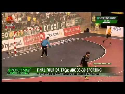 Andebol :: ABC - 33 x Sporting - 30 de 2014/2015 Taça de Portugal 1/2 Final