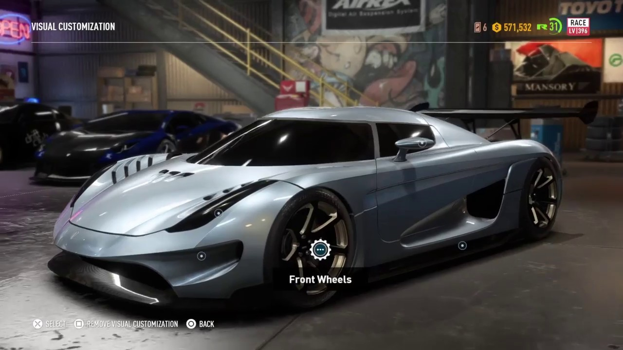need for speed payback koenigsegg regera race build. Black Bedroom Furniture Sets. Home Design Ideas