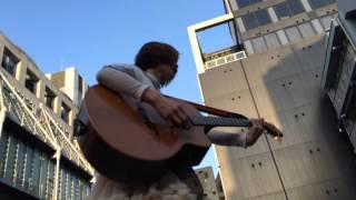 2014.510 におこなわれた後藤まりこさんの路上ライブです。 渋谷編、その3です。 ここから軽トラの上。 後藤の日。