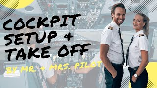 COCKPIT Setup & TAKE OFF (ep.1) - Explained by REAL Airline Pilots