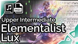 Elementalist Lux login theme (simplified ver.) - League of Legends (Synthesia Piano Tutorial)
