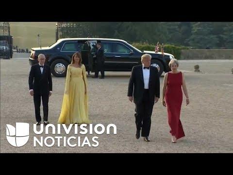 Trump es recibido en el palacio de Blenheim para su ceremonia de bienvenida