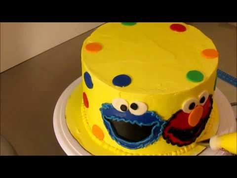 Sesame Street Cake With Elmo Cookie Monster Youtube