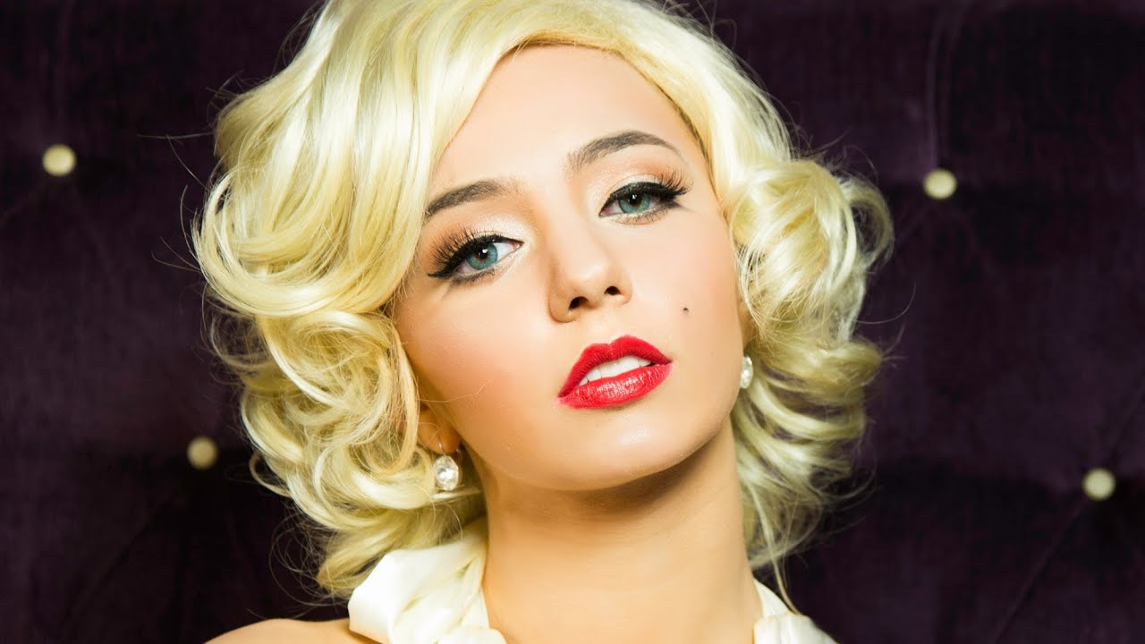 Marilyn monroe pinup makeup tutorial halloween youtube marilyn monroe pinup makeup tutorial halloween baditri Images