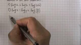 Logaritmos: Reducir a un solo logaritmo 01