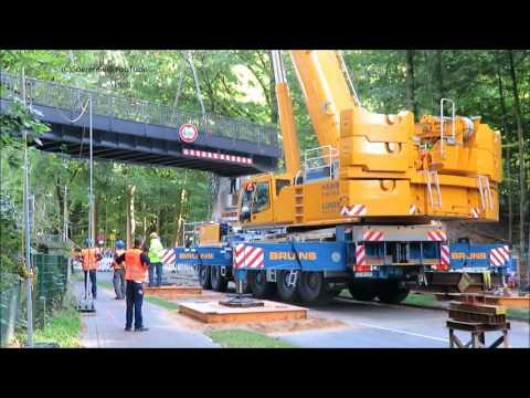 Soeren66 - Mobilkran TADANO FAUN ATF 400G-6 beim Einbau einer sanierten U-bahnbrücke, Teil 2