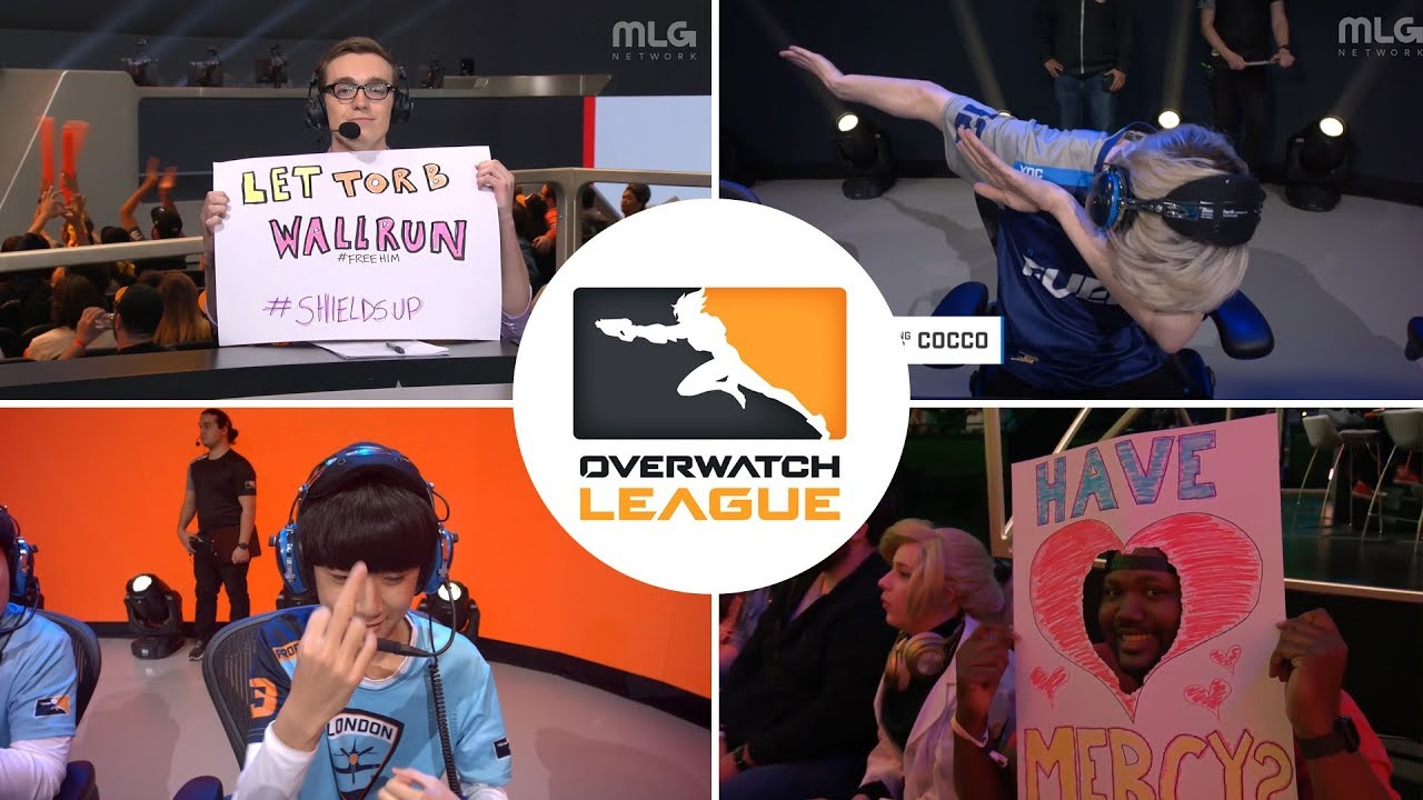 Best Overwatch League moments From Stage 1 (Cringe Compilation Funny Moments)