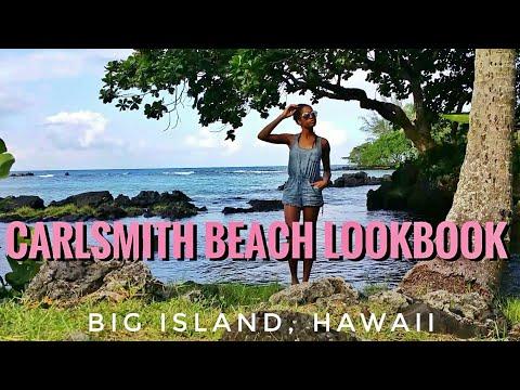 Blue Jean Romper Lookbook | Carlsmith Beach Big Island, Hawaii