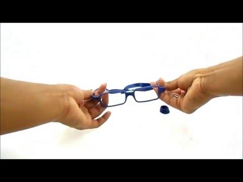 óculos de grau de silicone flexível e inquebrável - YouTube 27fcde106b