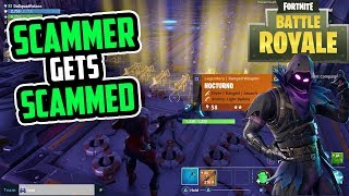 Fortnite scammer gets scammed for his noc