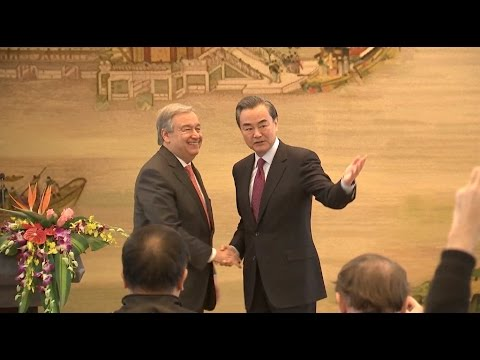 Chinese FM, Antonio Guterres Hope to Enhance UN Governance Ability, Efficiency