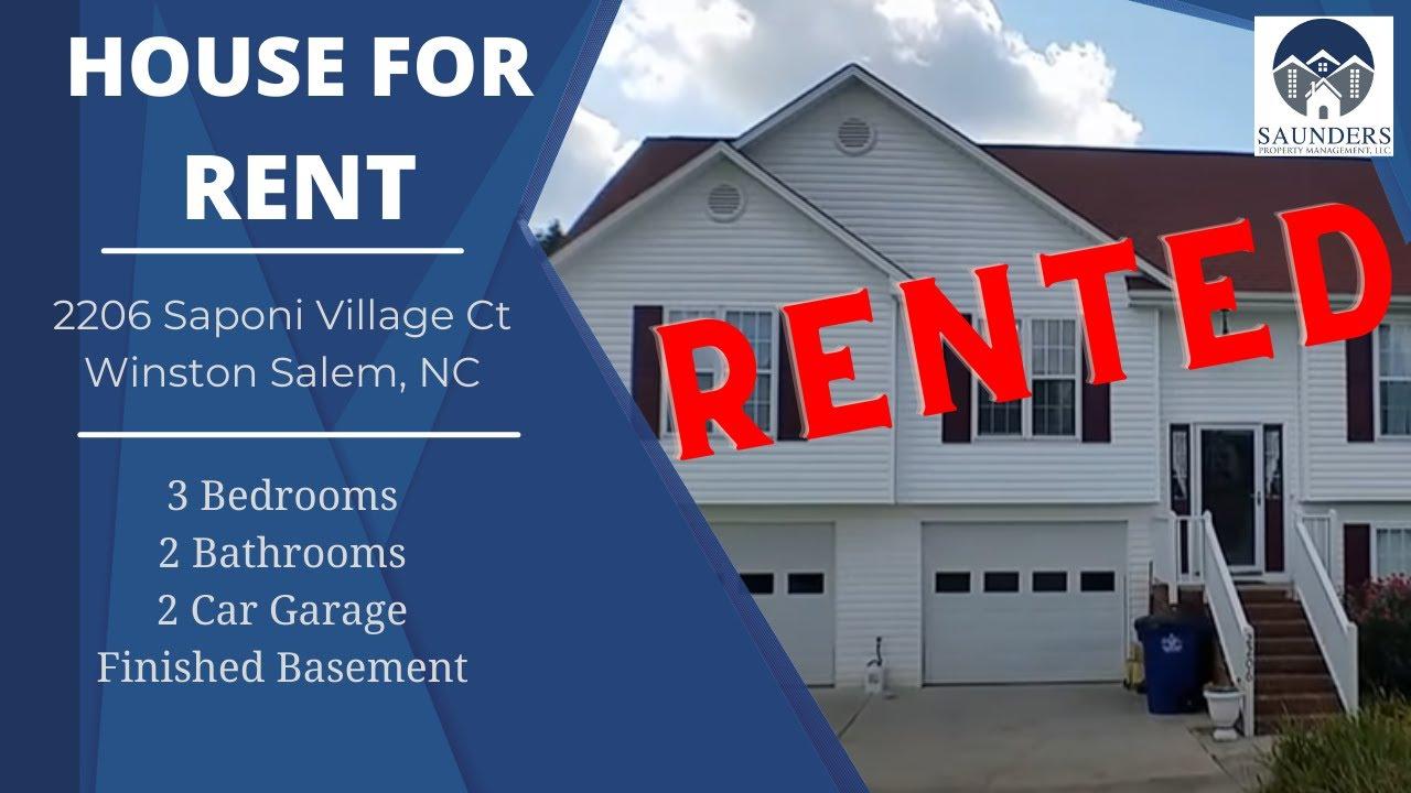 """Winston-Salem Homes For Rent"" 2206 Saponi Village Ct ..."
