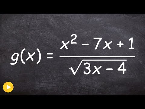 How to find the domain of a rational function with a radical in the denominator