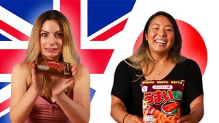 British & Japanese People Swap Snacks