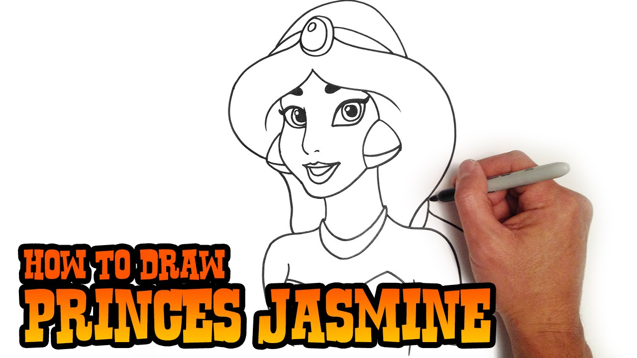 How to draw princess jasmine