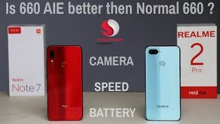 Redmi Note 7 vs Real Me 2 Pro #speed#camera#battery drain charge 100% #internet