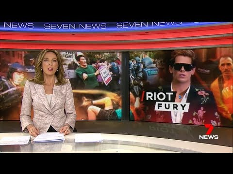 Nine + Seven News. Communist Protest Milo. Update.(Melbourne)(Apex)