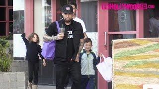 Joel Madden Takes His Kids Harlow & Sparrow Shopping At Crystalarium Ahead Of Mother