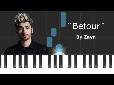 """Zayn - """"Befour"""" Piano Tutorial - Chords - How To Play - Cover"""