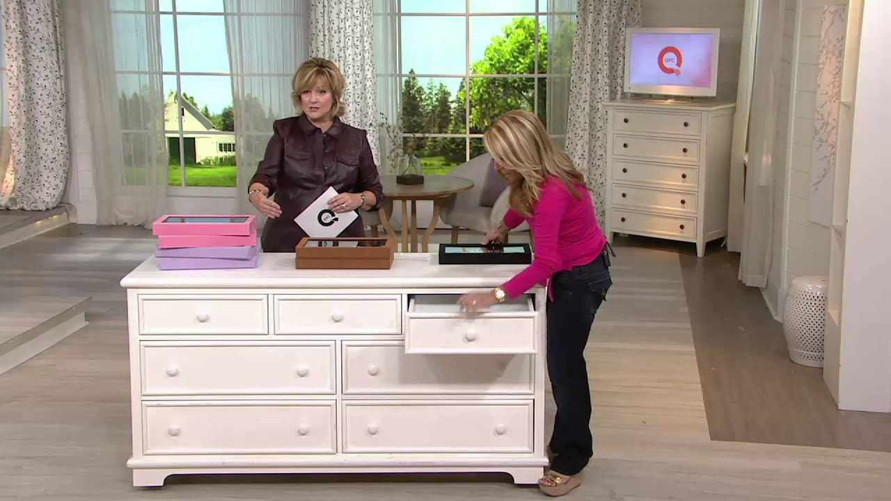Set of 2 Silver Safekeeper InDrawer Jewelry Boxes by Lori Greiner