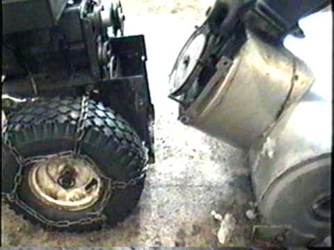HOW TO Replace The Belts On The Old MTD Snowblower Part 1 Of 2