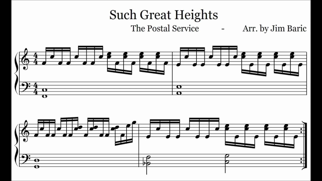 Such Great Heights piano tutorial   YouTube