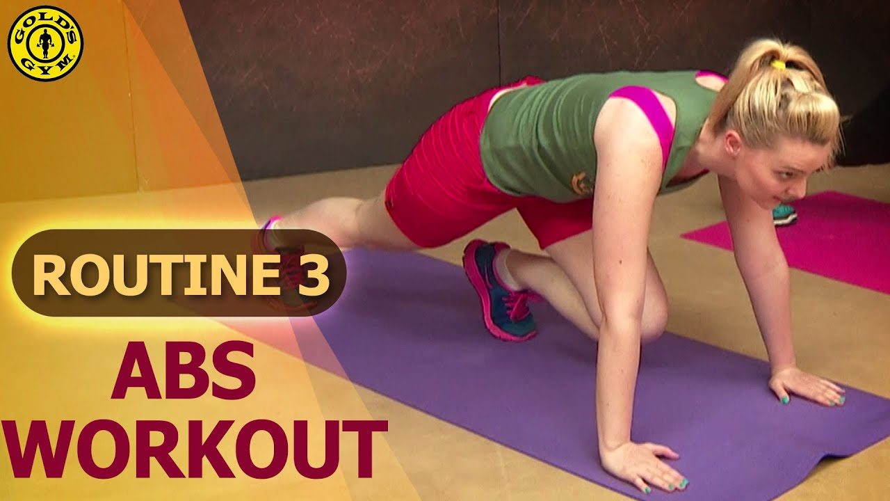 Gold s gym at home workouts routine abs and belly fat
