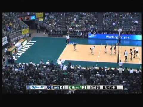 Rainbow Wahine Volleyball 2013 - #12 Hawaii Vs UC Davis