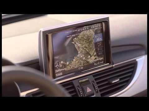 The interior of the Audi A6 hybrid sedan