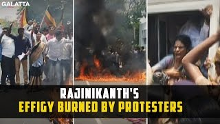 Update from Poes Garden: Rajinikanths Effigy Burned by Protesters
