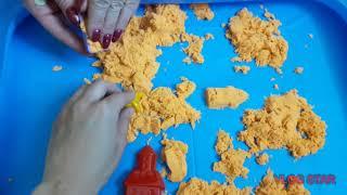 Обзор детской надувной песочницы+кинетический песок