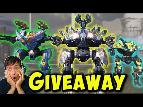 RAGNAROK GIVEAWAY: 50x FENRIR, TYR Or LOKI - War Robots Mk2 Gameplay WR