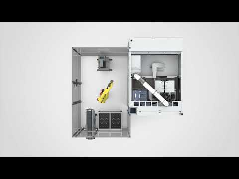 Vertikale Drehmaschine VL 1TWIN mit Laderoboter - EMAG