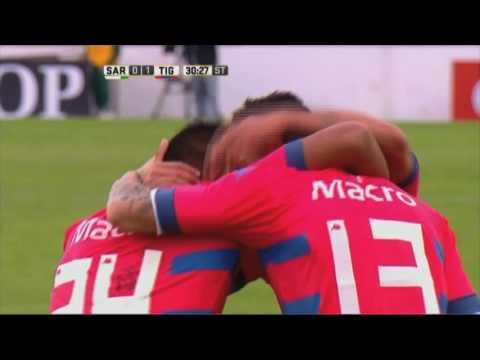 Gol de Mieres. Sarmiento 0 - Tigre 1. Fecha 15. Primera División 2016