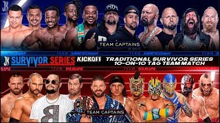 WWE SURVIVOR SERIES 2018 TRADITIONAL SURVIVOR SERIES 10 ON 10 TAG TEAM MATCH CARD REMAKE PSD Y PARTE