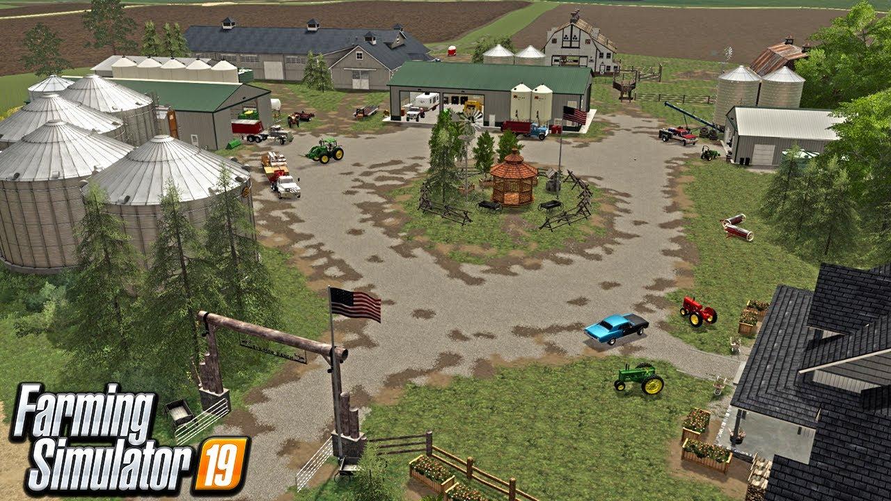 BUILDING A FARM YARD RIGHT NEXT TO THE MILLENNIAL FARMER BY SCRATCH (ROLEPLAY) FARMING SIMULATOR 19