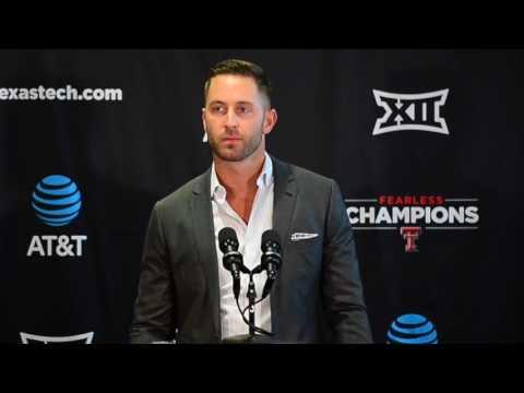 Kliff Kingsbury at 2017 Texas Tech Football Media Day
