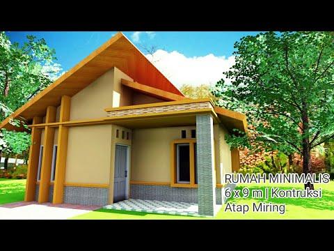 Desain rumah minimalis 6 x 9 atap miring   animasi ...