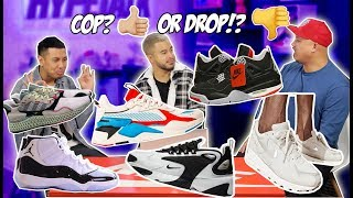 UPCOMING SNEAKER RELEASES - COP OR DROP?! (IT GETS HEATED LOL)