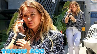 Hilary Duff cuts a stylish figure in thigh-hugging skinny jeans