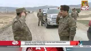 Müdafiə naziri Silahlı Qüvvələrin tank bölmələrinin döyüş hazırlığı məşqlərini izləyib