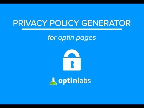 Privacy Policy Generator for Optin Pages