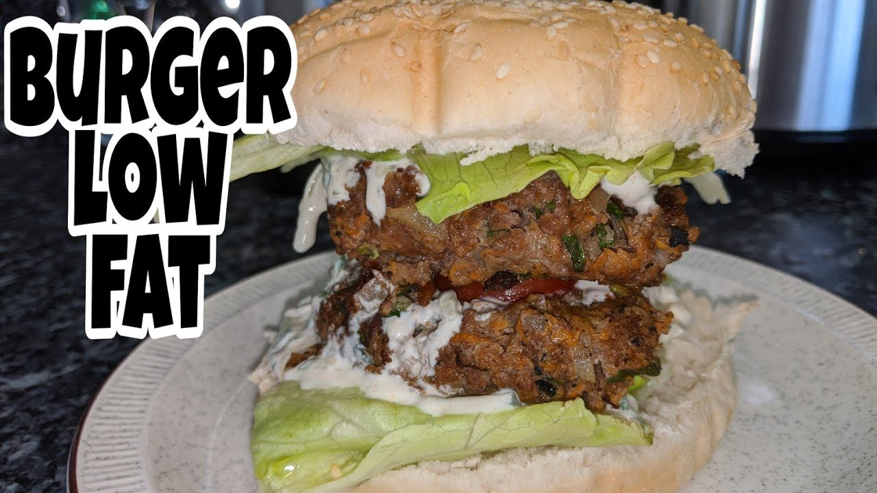 How to make low fat burger