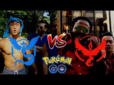 WHEN PEOPLE TAKE POKEMON GO TOO FAR! (Team Valor vs. Team Mystic)