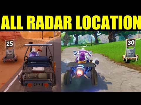 Fortnite ALL 5 RADAR SIGN Locations Week 5 Challenge Record A Speed Of 27 Or More