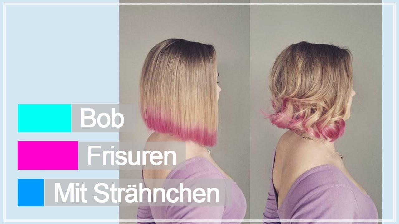 Bob frisur blonde strahnen
