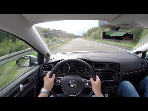 VW Golf 7 2.0 TDI (2013) on German Autobahn - POV Top Speed Drive